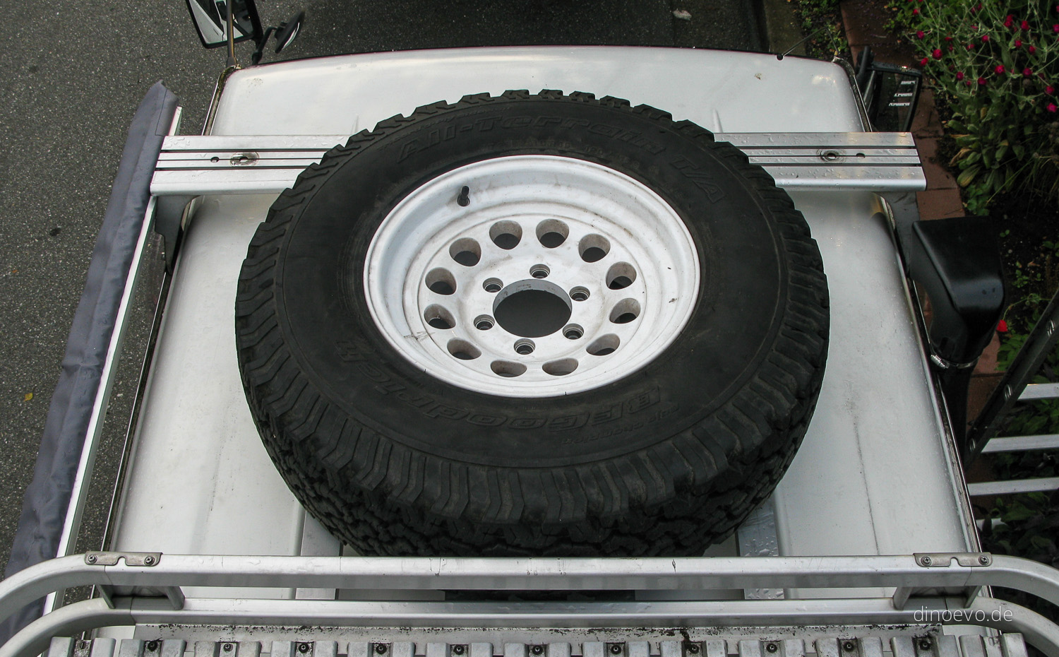 Roof Rack Tire Mount